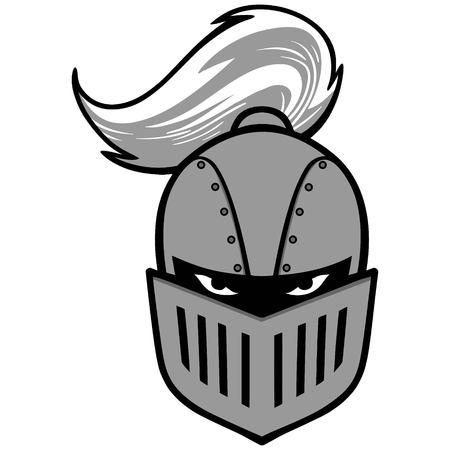 Knight helmet illustration.