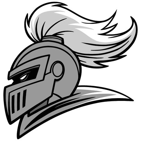 Knight sport mascotte illustratie.