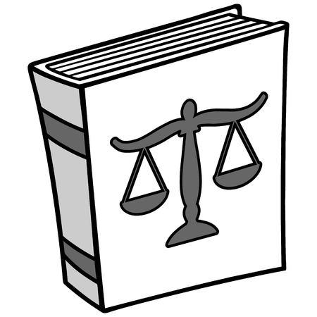 Law book illustration.
