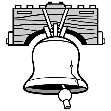 Liberty Bell Ringing Illustration