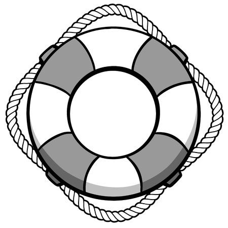 Life Preserver Ring Illustration