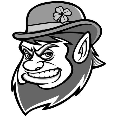 bowler hat: Lucky Leprechaun Mascot Illustration