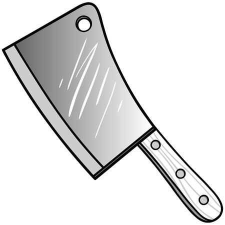 Meat Cleaver Illustration