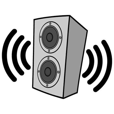 Wireless Speakers Illustration Illustration