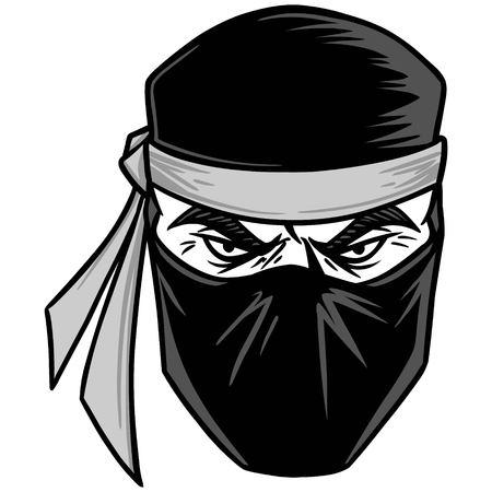 Ninja illustration. Ilustração