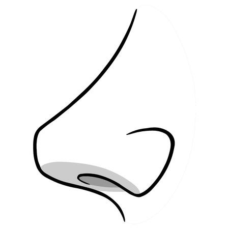 Neus Zijaanzicht Illustratie Stock Illustratie