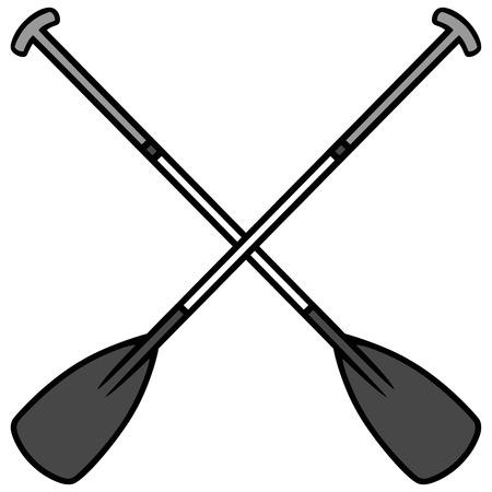 Paddle Board Oars Illustration Illustration