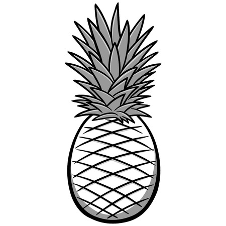 Pineapple Illustration Stock fotó - 71868924