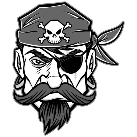 looting: Pirate Illustration Illustration