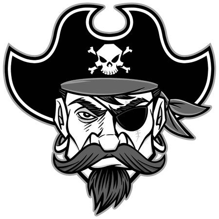 looting: Pirate Mascot Illustration