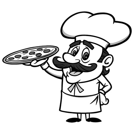 Pizza Chef Illustration