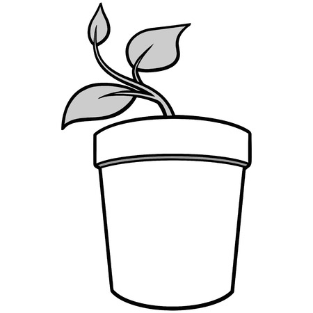 potted plant: Potted Plant Illustration