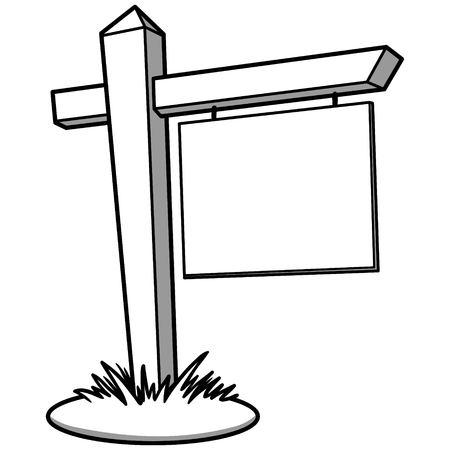 Realtor Sign Illustration Ilustracja