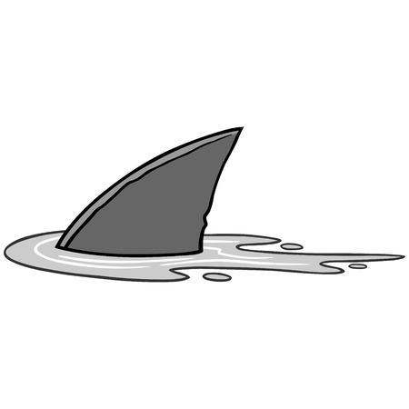 Ilustración de aleta de tiburón Foto de archivo - 71869341