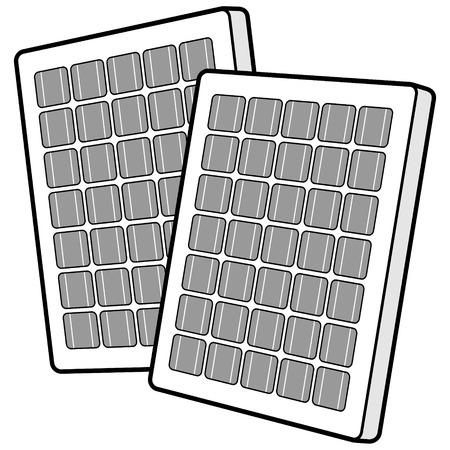 태양 전지 패널의 그림