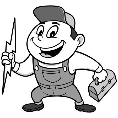 Speedy Electrician Illustration