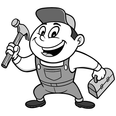 Speedy Handyman Illustration Illustration