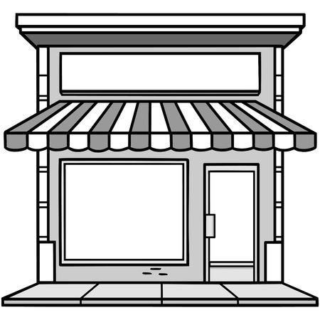 Storefront Illustration Stock Vector - 71730156