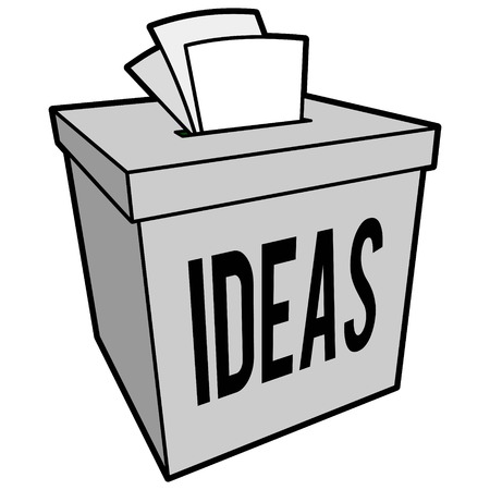 vorschlag: Suggestion Box Illustration Illustration
