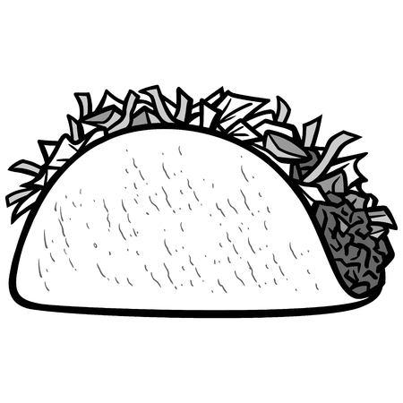 Taco icon illustration. Ilustração
