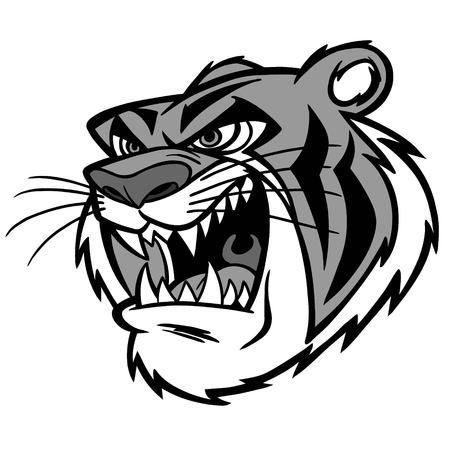 Tiger Growl Illustration