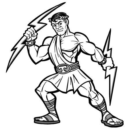 Titan Mascot Illustration