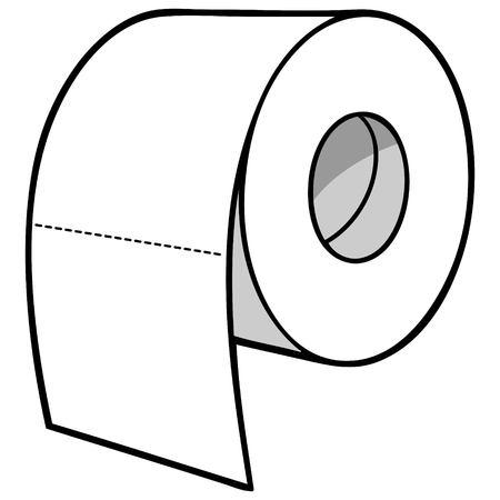 Toilettenpapier Illustration Standard-Bild - 71730193