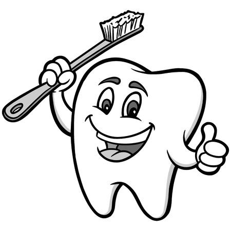tooth mascot: Tooth Mascot Illustration Illustration