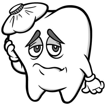 歯痛の図  イラスト・ベクター素材