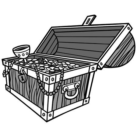 Treasure Chest Illustration Illustration