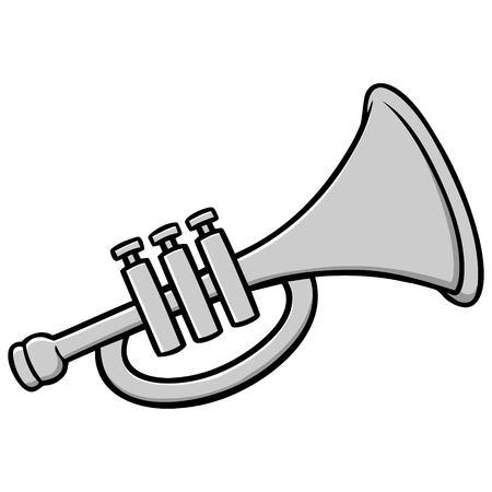 Trompete Illustration Standard-Bild - 71730129