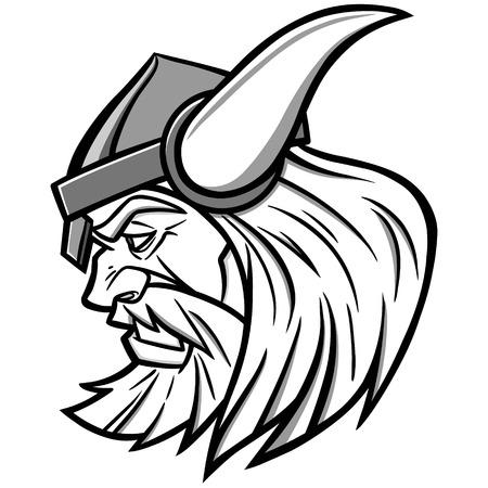 Viking Mascot Illustration