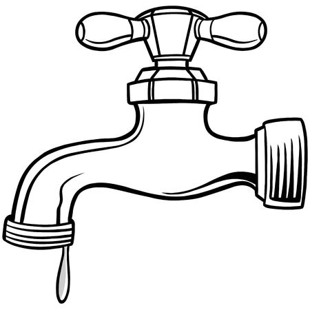 Water Faucet Illustration