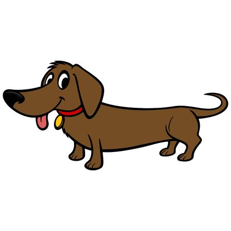 Dachshund Cartoon Ilustrace