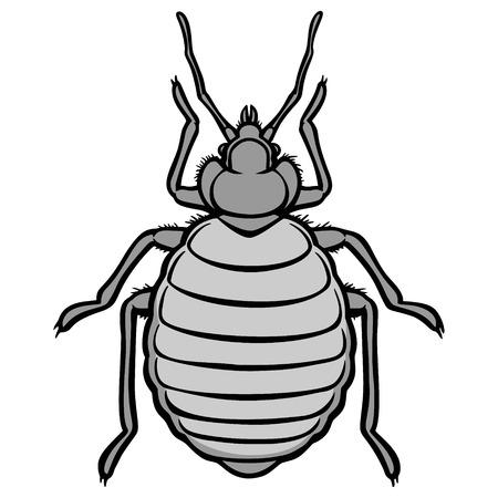 Bed Bug Icon Illustration Ilustração