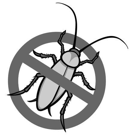 No Roach Sign Illustration