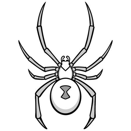 Illustration de veuve noire Banque d'images - 74191418