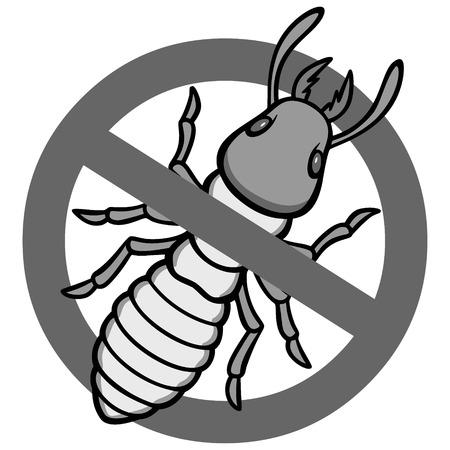 No hay signo de termitas Foto de archivo - 74193156