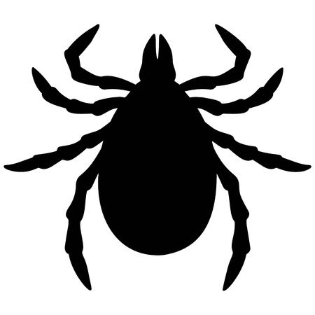 lyme disease: Tick Silhouette Illustration