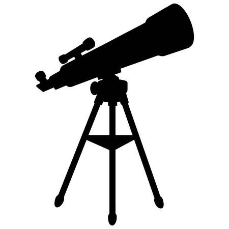 望遠鏡のシルエット  イラスト・ベクター素材