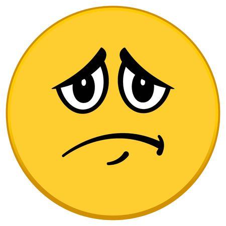 A vector illustration of a Sad Emoticon. Иллюстрация