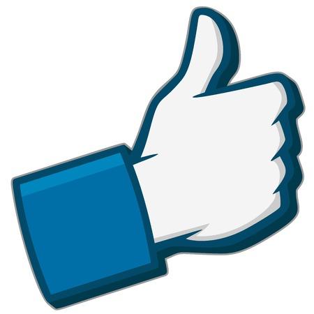 Wie uns 3D Social Media Icon Standard-Bild - 79977054
