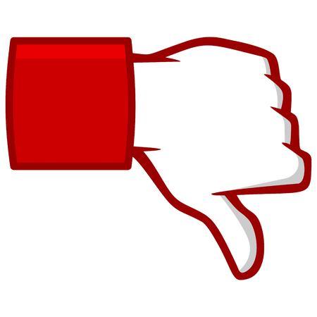 Thumbs Down Ícono de los medios sociales Ilustración de vector