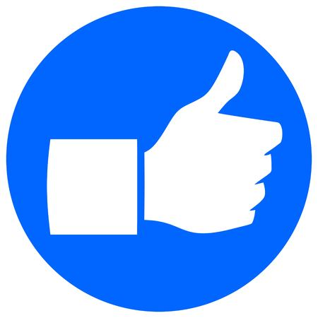 Thumbs Up Flat Icon