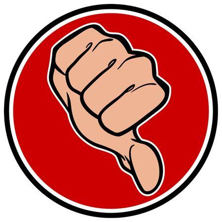 Thumbs Down Symbol Illustration