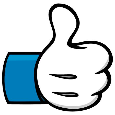 Thumbs Up Cartoon Social Network Symbol