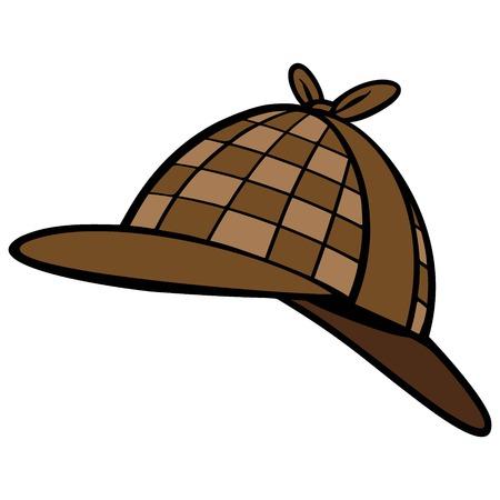 Detective Hat Ilustrace