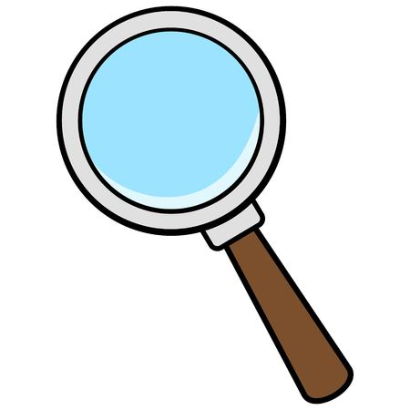 Magnifying Glass Icon Çizim