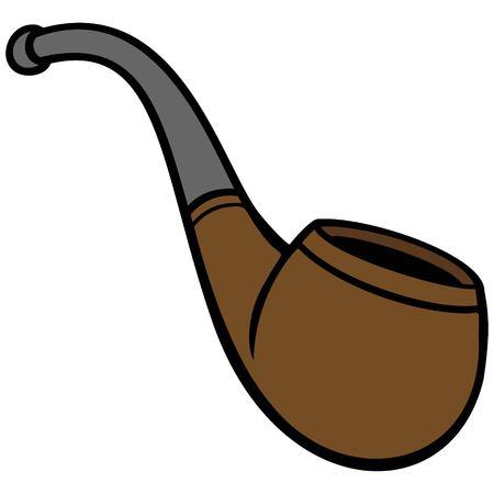 禁煙パイプ  イラスト・ベクター素材