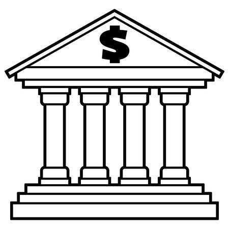 Bank Icon 版權商用圖片 - 80711834